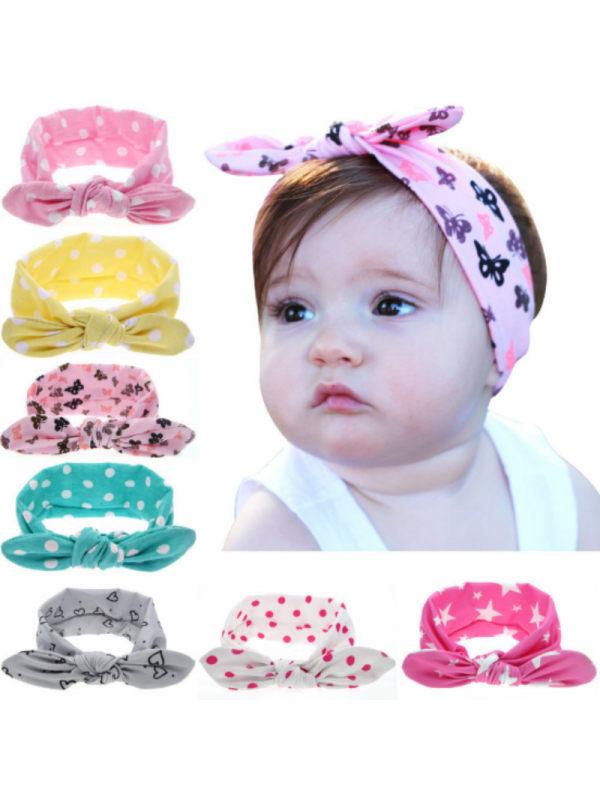 Girls Cute Cloth Bunny Ears Headband
