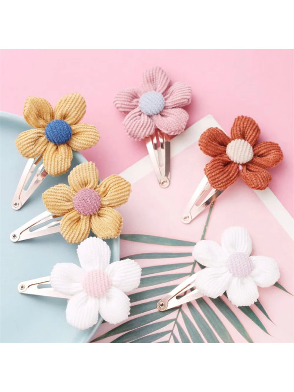 Fabric hairpins with Floral Edges