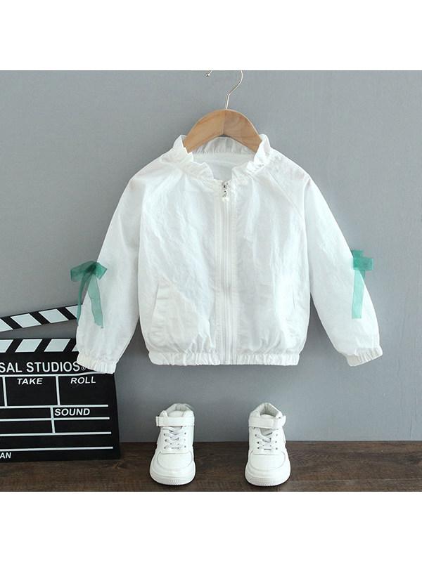 【18M-13Y】Girls' Floal Jackets Windbreaker Jackets