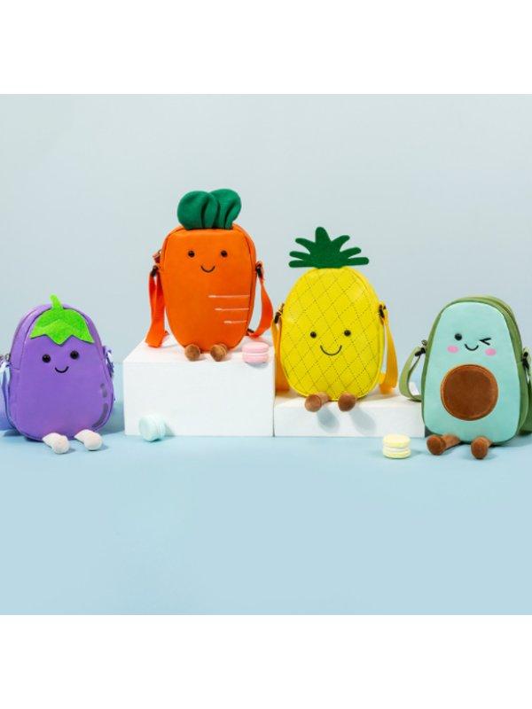 Cartoon Cute Fruit Shoulder Messenger Bag