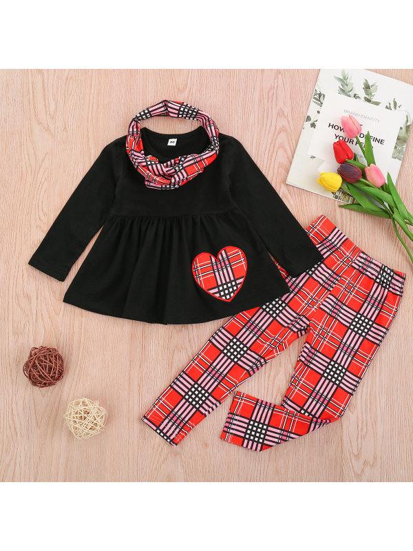 【12M-5Y】Girl Sweet T-shirt And Leggings Set
