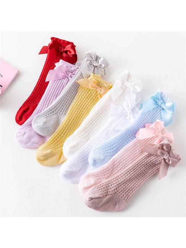 Girls Loose-knot Mesh Socks