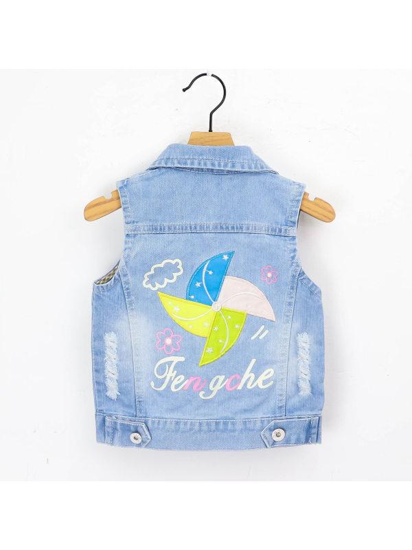 【18M-9Y】Girls Denim Vest