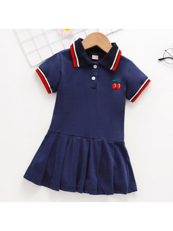【18M-7Y】Girls Cute Cherry Embroidery Dress