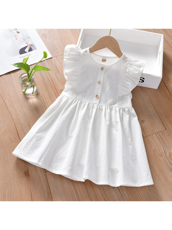 【18M-7Y】Girl Sweet White Sleeveless Dress