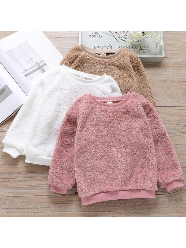 【18M-7Y】Kid Casual Woolen Sweatshirt