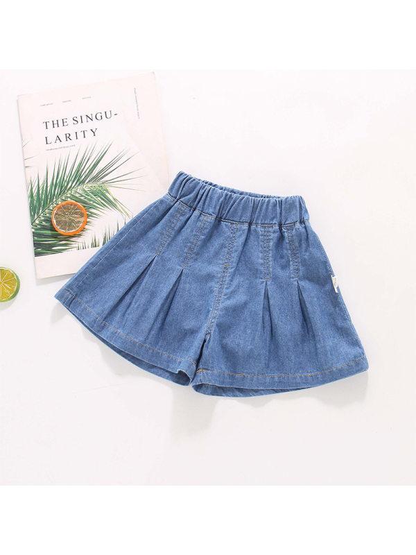 【18M-7Y】Girls Casual A-line Denim Shorts