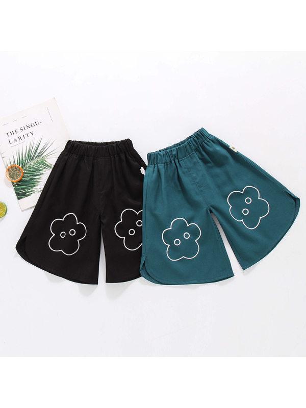 【18M-7Y】Girls Casual Printed Wide-leg Pants
