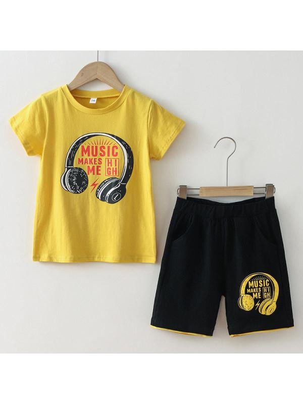 【3Y-11Y】Boys Earphone Print Casual Suit