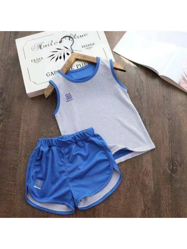 【2Y-11Y】Boys Casual Vest Shorts Sports Suit