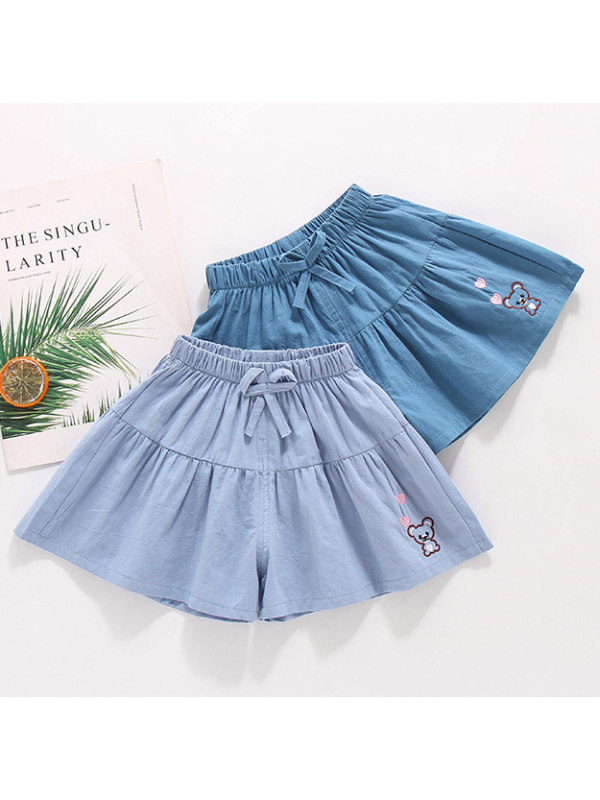【18M-7Y】Girls Lace A-line Shorts