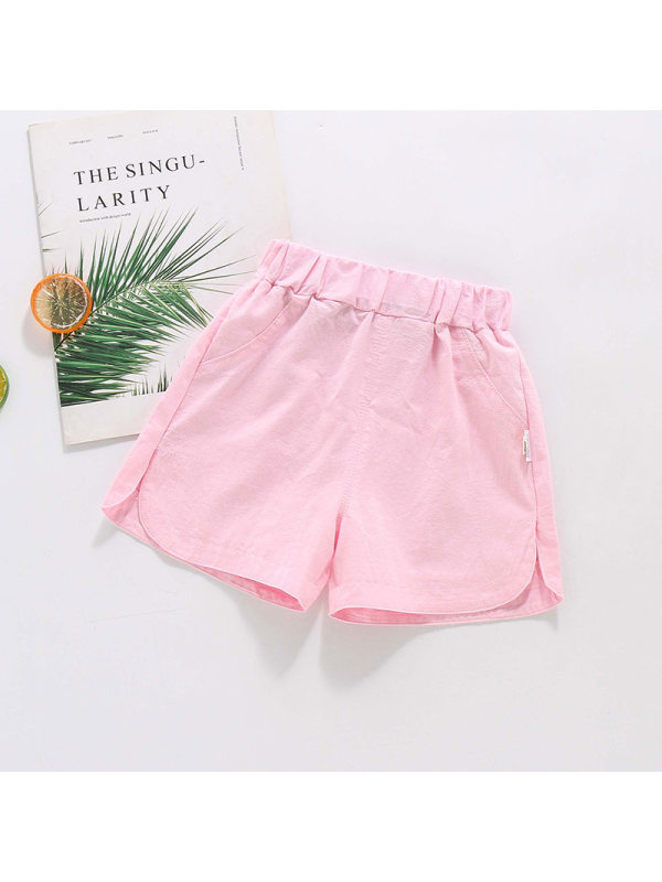 【18M-7Y】Girls Casual Split Shorts