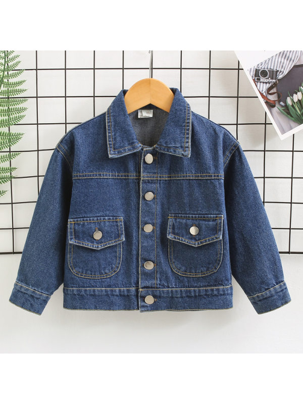 【18M-7Y】Boys Casual Denim Jacket