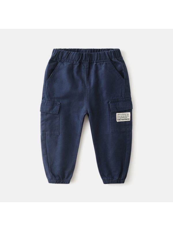 【18M-7Y】Boys Solid Color Casual Trousers