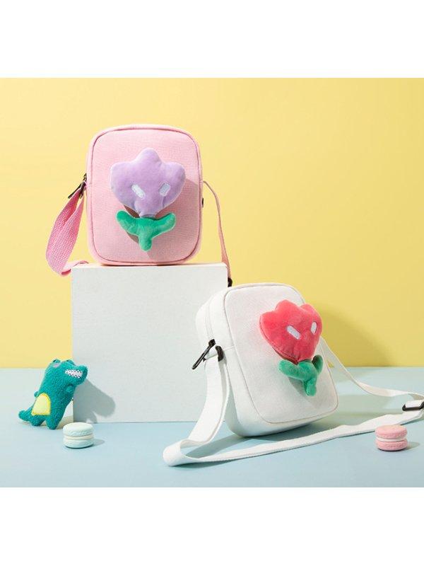 Fashion Canvas Cute Flower Casual Messenger Bag