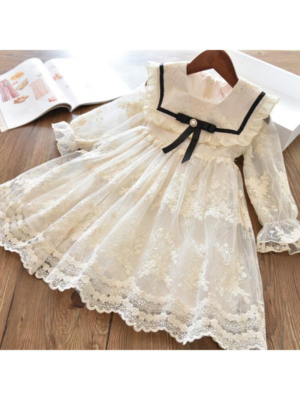 【3Y-13Y】Girls Lace Sweet Dress