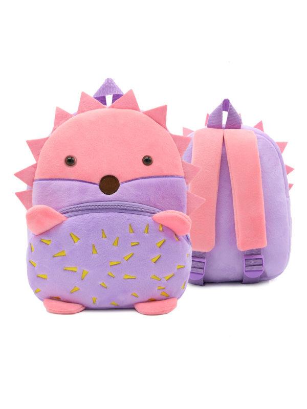 Backpack Backpack Plush Backpack Animal Hedgehog