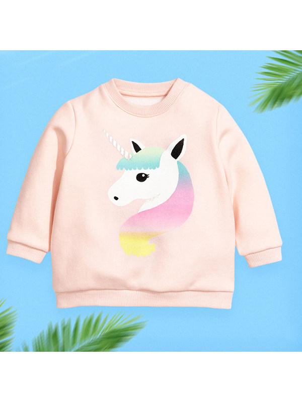 【18M-9Y】Girls Cartoon Print Long-sleeved Sweatershirt