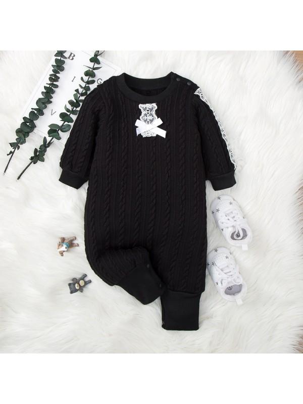 【3M-18M】Baby Cartoon Print Long-sleeved Jumpsuit