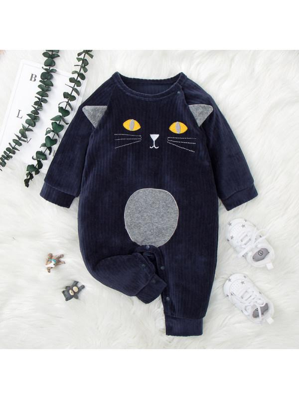 【6M-24M】Baby Cartoon Print Long-sleeved Jumpsuit