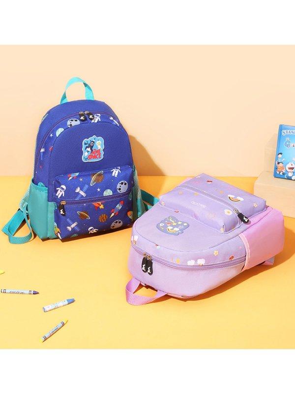 Kids Cute Cartoon Space Pattern School Bag