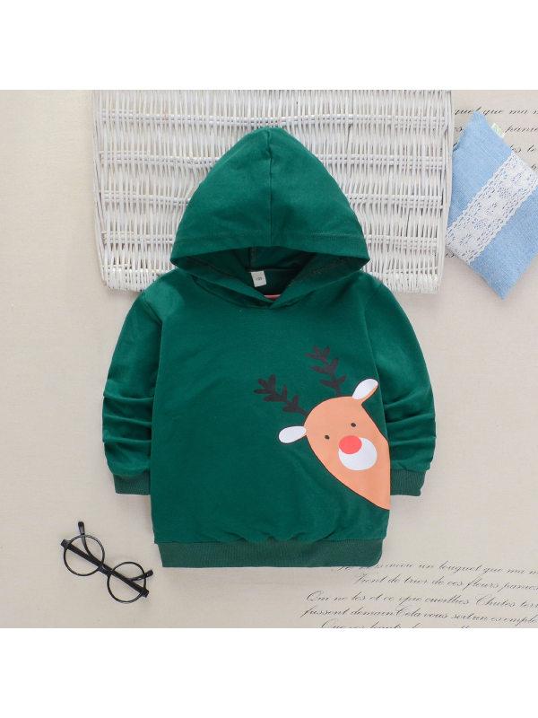 【18M-7Y】Boys Cartoon Print Long-sleeved Hooded Sweatshirt