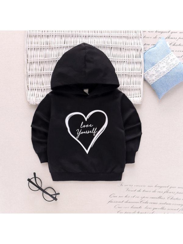【18M-7Y】Boys Long Sleeve Love Print Sweatshirt