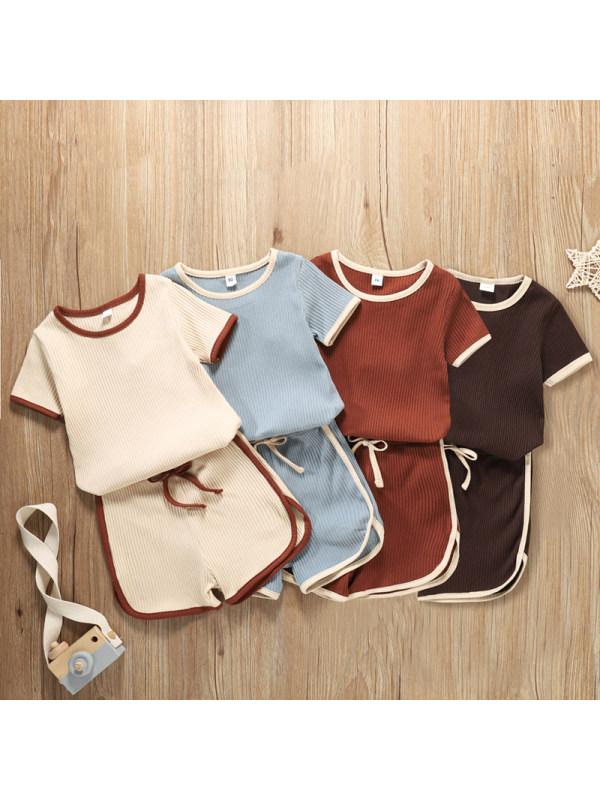 【18M-7Y】Girls Pit Strip Plain Simple Suit