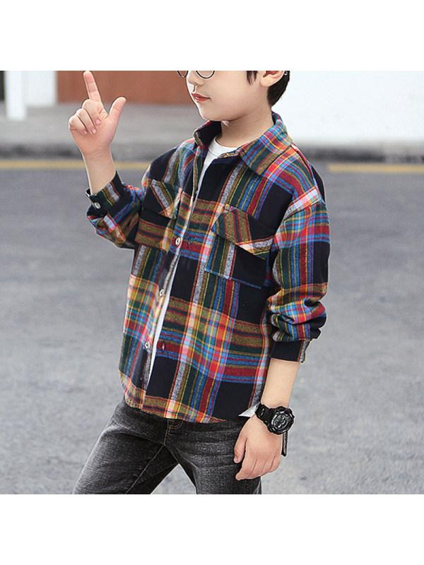 【3Y-15Y】Boys Casual Long Sleeve Shirt
