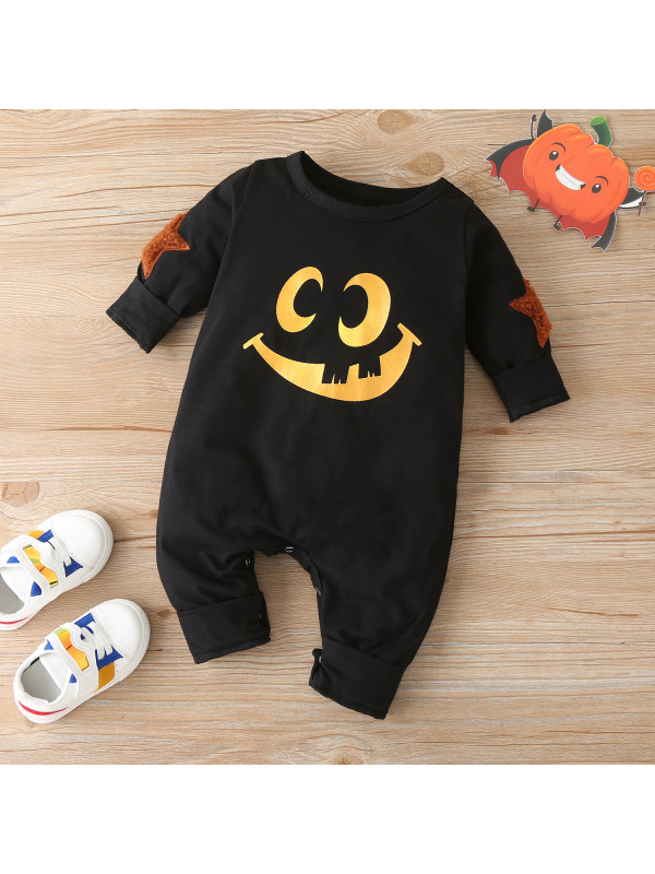 【3M-24M】Baby Halloween Long-sleeved One-piece Romper