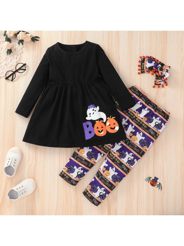 【18M-6Y】Girls Halloween Style Print Set