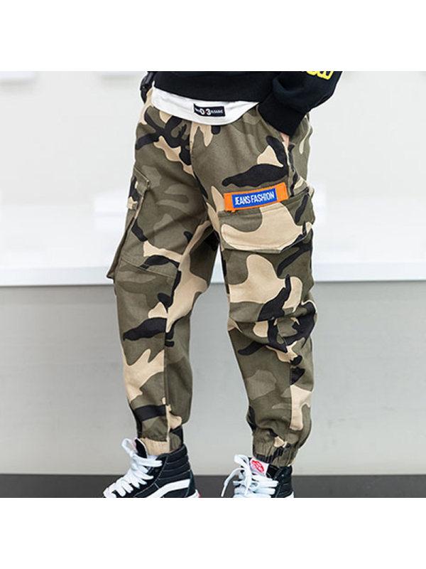 【3Y-13Y】Boys Casual Camouflage Pants