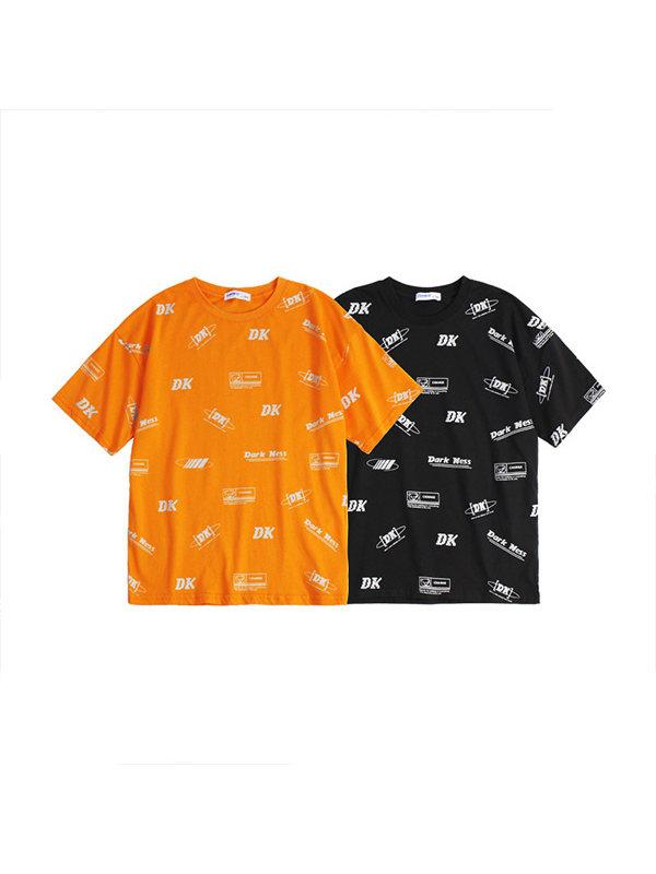 【4Y-15Y】Boys Printed Letters Trend Short-sleeved T-shirt