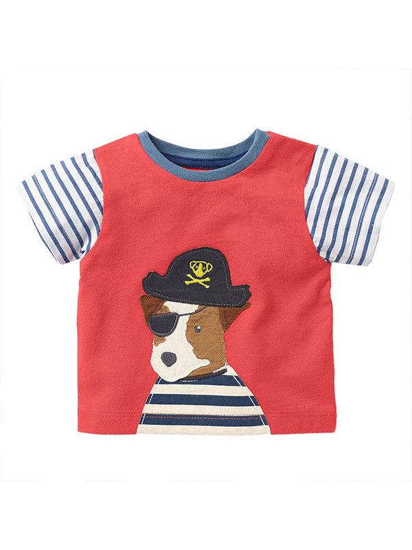 【18M-9Y】Boys Animal Print Trend Short Sleeve T-shirt