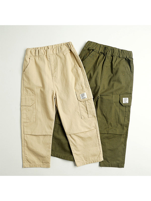 【3Y-13Y】Boys' Single Pants 9-point Straight Pants Overalls Pants