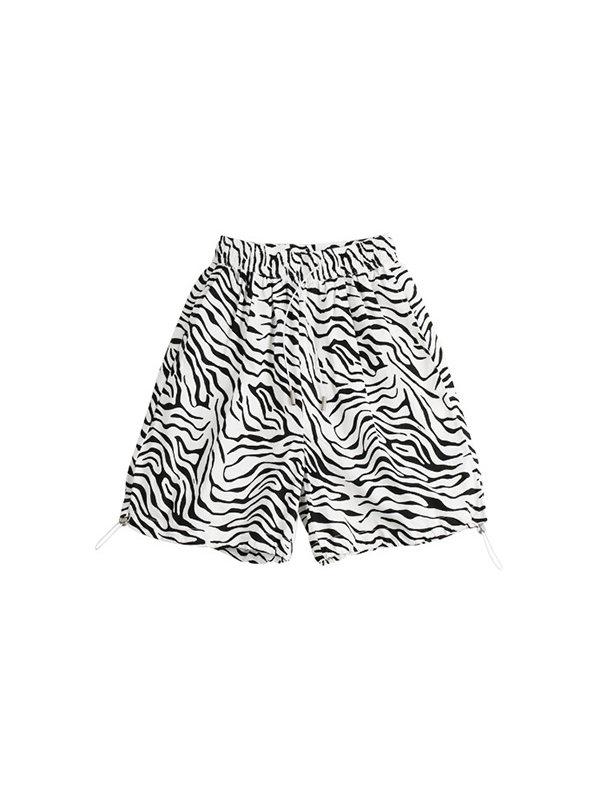 【4Y-15Y】Boys' Trendy Five-point Pants