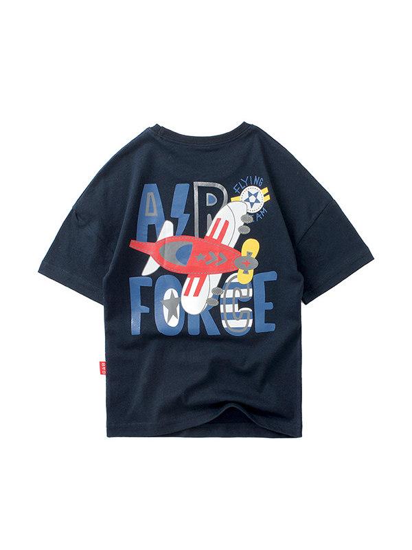 【4Y-13Y】Boys Cartoon Print Trend Short Sleeve T-shirt