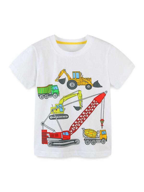 【18M-9Y】Boys Cartoon Print Trend Short Sleeve T-shirt