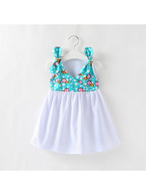 【12M-5Y】Girls Cartoon Bee Print Dress