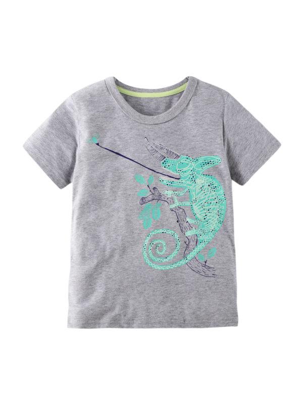 【12M-11Y】Boys Cartoon Print Short Sleeve T-shirt