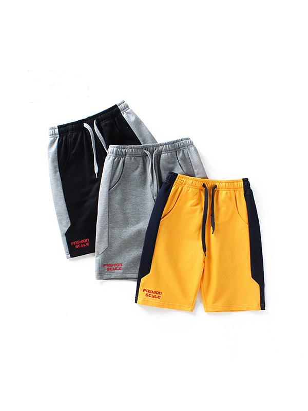 【4Y-13Y】Boys Contrast Stitching Trendy Shorts