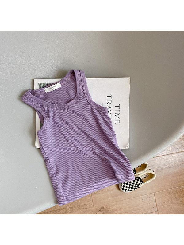 【12M-9Y】Pit Strip Candy Color Vest