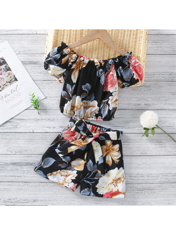 【18M-7Y】Sweet Flower Print Suit