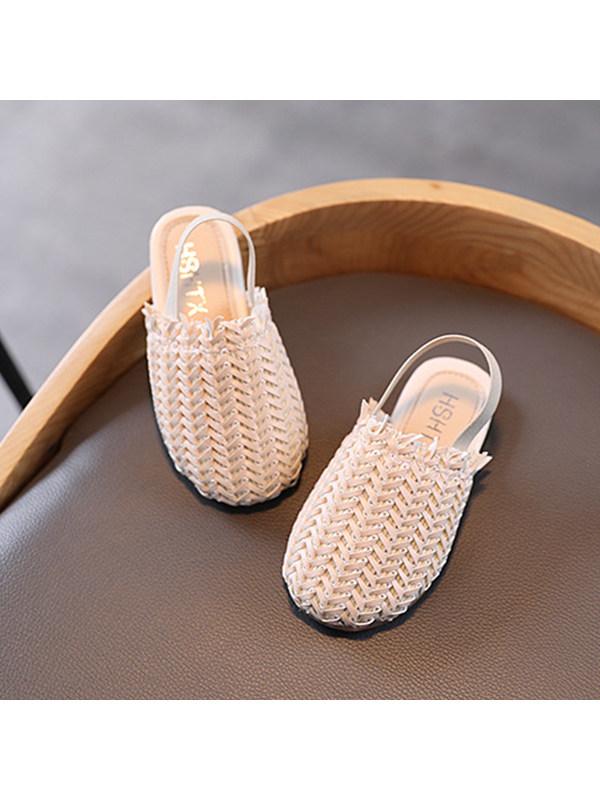 Girls Non-slip Woven Sandals