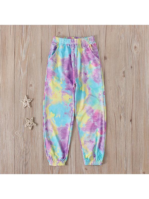 【4Y-13Y】Girls Tie-dye Casual Trousers