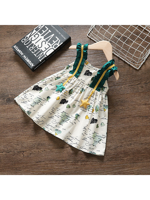 【12M-4Y】Girls Small Floral Sling Dress