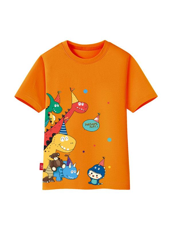 【18M-11Y】Boys Cartoon Print Short Sleeve T-shirt