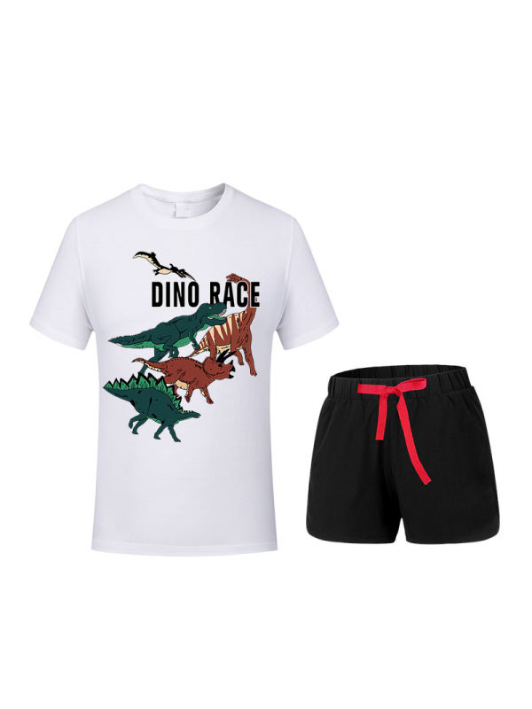 【12M-9Y】Childrens Short-sleeved Shorts Two-piece Suit