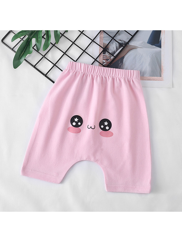 【6M-4Y】Baby Cropped Casual Cartoon Printed Butt Pants