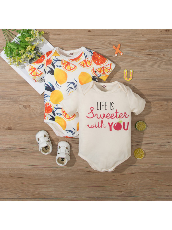 【3M-18M】Baby Summer Cartoon Cute Romper
